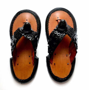 1b02a801c Image is loading Men-039-s-Handmade-Leather-Traditional-Slippers-Ghanaian-
