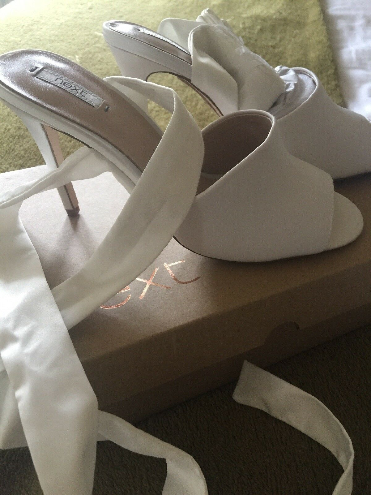 Next Shoes With New Ribbon Ankle Ties Party/wedding  5 New With In Box e558e1