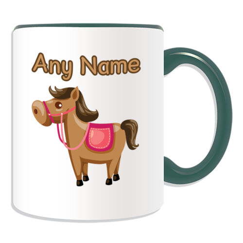 Personalised Gift Horse Mug Money Box Cup Customise Name Tea Coffee Pony Silly