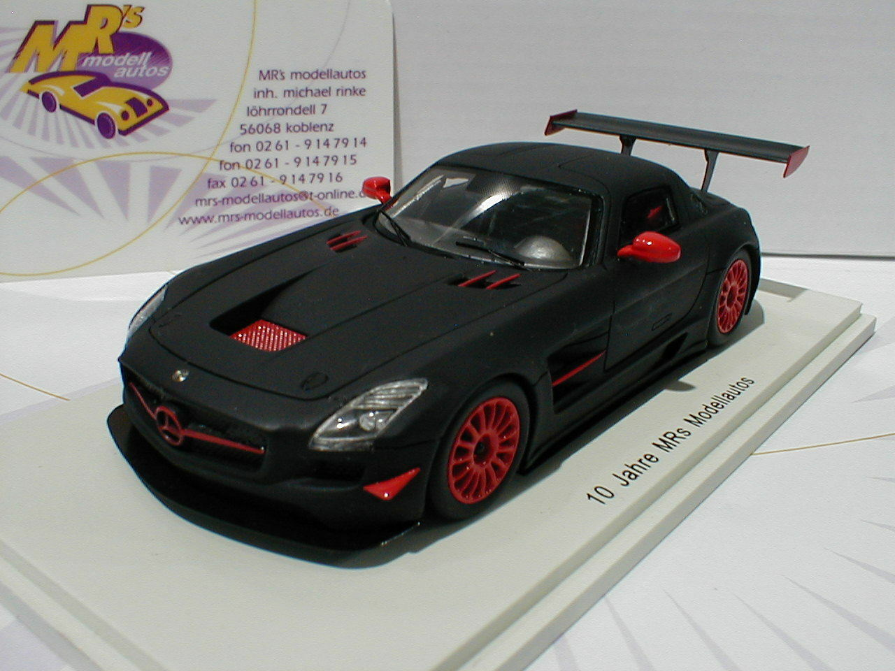 Spark mrs001   Mercedes Benz SLS gt3 AMG  10 años Sr 's modelo coches  1 43 nuevo