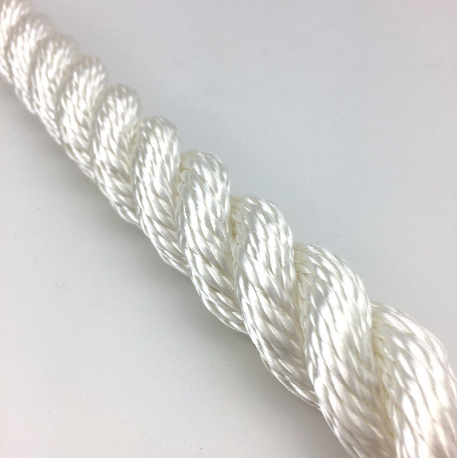 14mm blanc 3 amarrage brins nylon amarrage 3 Corde Sécurité / Bracelet x 2 mètres 6b7022