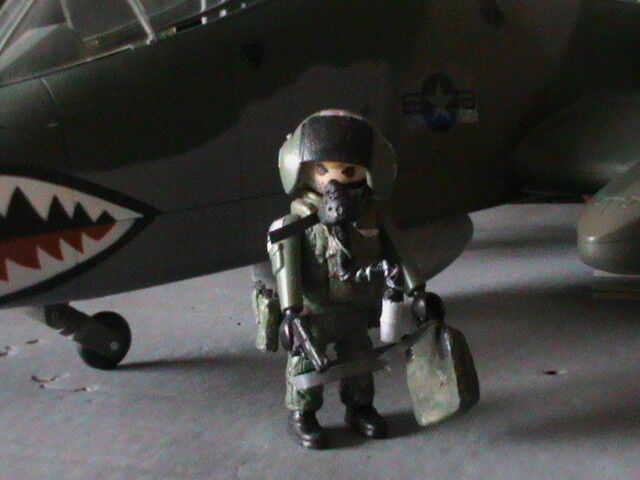 PLAYMOBIL CUSTOM US PILOTO TUNDERBOLT A-10 REF-0269 BIS