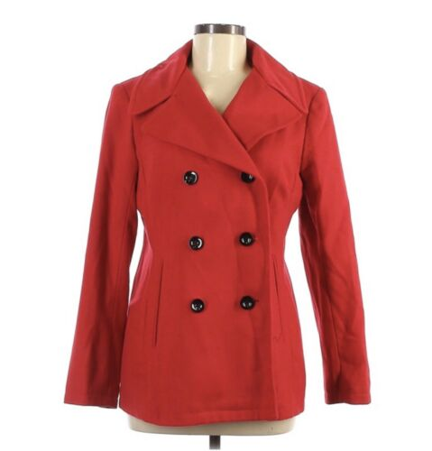 New York & Co Gorgeous Red Woolen Coat