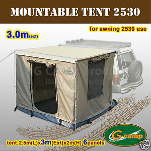 G-CAMP-MOUNTABLE-TENT-2-5M-X-3M-AWNING-ROOF-CAMPER-TRAILER-4WD-4X4-CAMPING-FREE