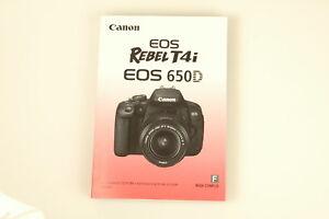 new canon eos rebel t4i 600d genuine owners manual book ebay rh ebay com Canon Rebel T4i Recall canon eos rebel t4i instruction manual pdf