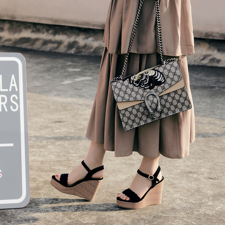Sandali eleganti  negro corda 16 cm zeppa platform pelle sintetica eleganti 1106