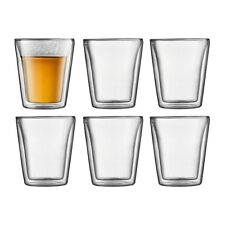 BODUM CANTEEN 6PC DOUBLE WALL GLASS MEDIUM 200ML RRP$75.00