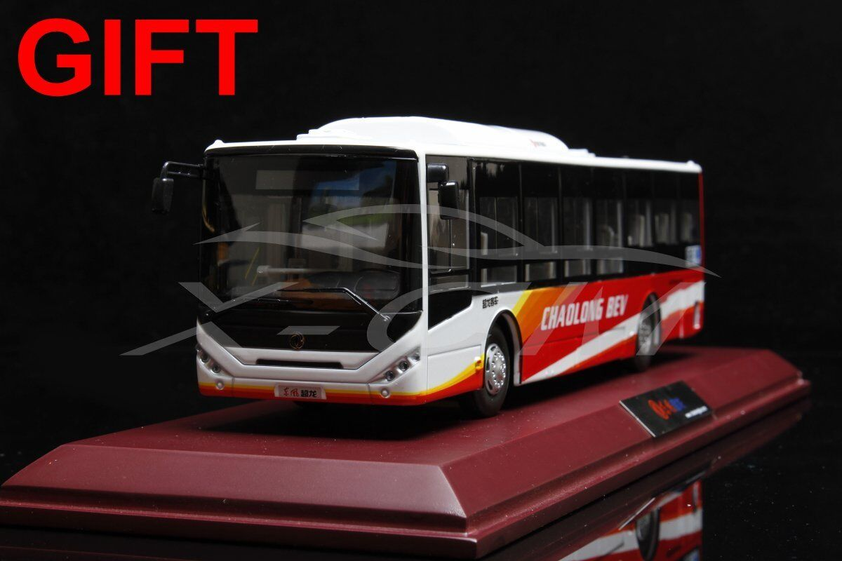 Bus Model Dongfeng Chaolong BEV 1 40 (White Red) + SMALL GIFT