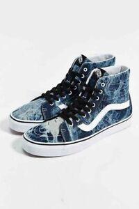 Details about Vans sk8 hi skate shoe acid denim high top Men's Size 9