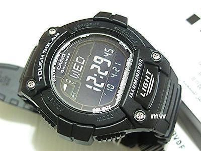 CASIO MEN'S WATCH W-S220-1BV SOLAR POWER World Time Lap Memory 5 Alarms Digital