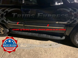 2000-2006-Chevy-Tahoe-Chrome-Body-Side-Molding-Add-on-Accent-Overlay-Trim-4Pc