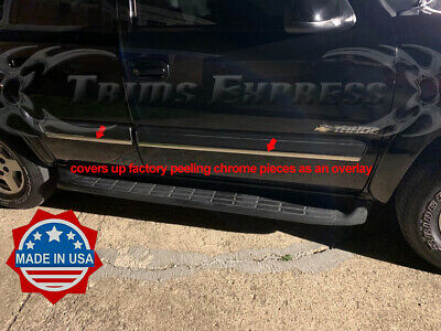 STAINLESS STEEL CHROME PILLARS FOR CHEVY TAHOE 2000-2006 4PCS