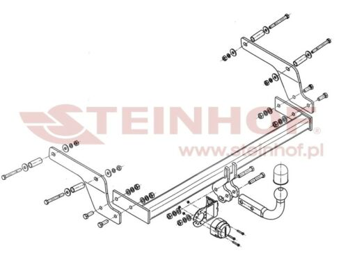 Tow Bar for Dacia  Sandero 2013 onward with Full ByPass Relay Electrics Kit
