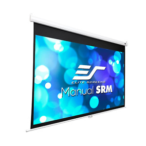 """Elite Projector 120"""" Screen Manual Series Wall/ Ceiling Mount 72.0"""" H x 96.0"""" W"""