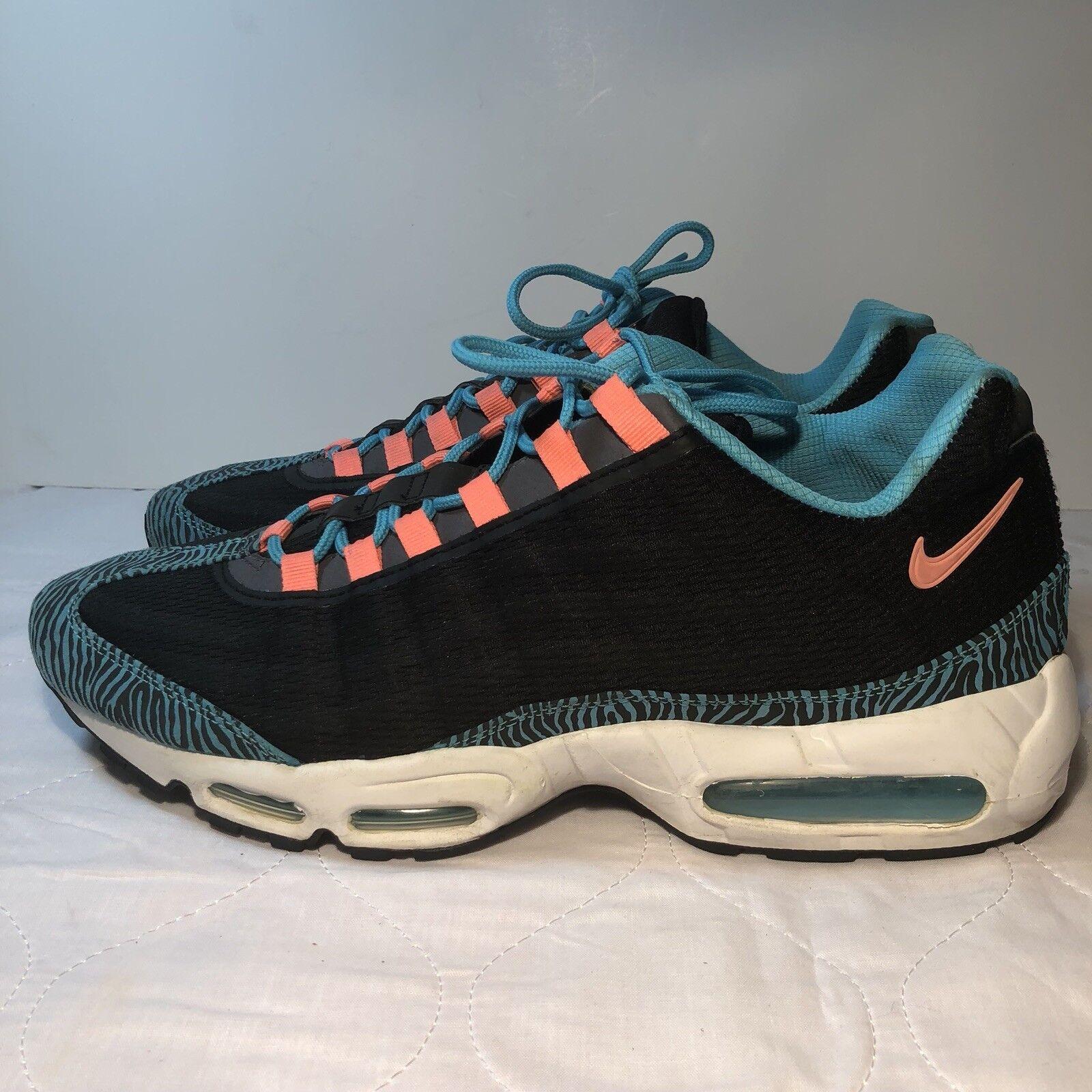 Nike Air Max 95 Premium Tape Mens US Sz 13 Black Pink-Gamma bluee-Grey 599425-064