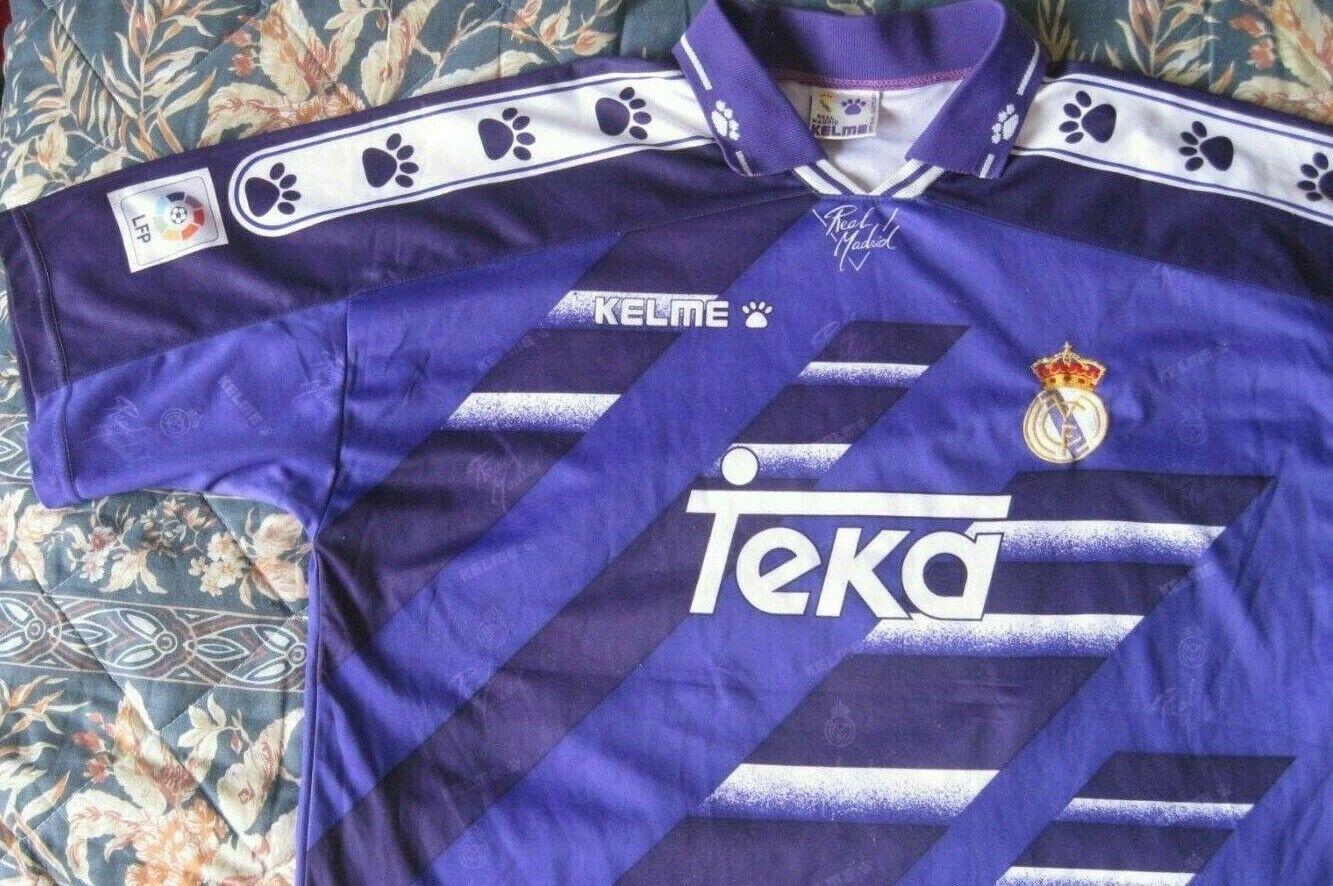 Camiseta Shirt Maillot Trikot REAL MADRID Kelme Season 1994 LXL Dimensione