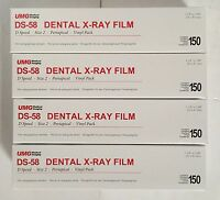 4x Umg Ds-58 D Speed Size 2 Periapical Vinyl Pack Dental X-ray Film 150/box Fda