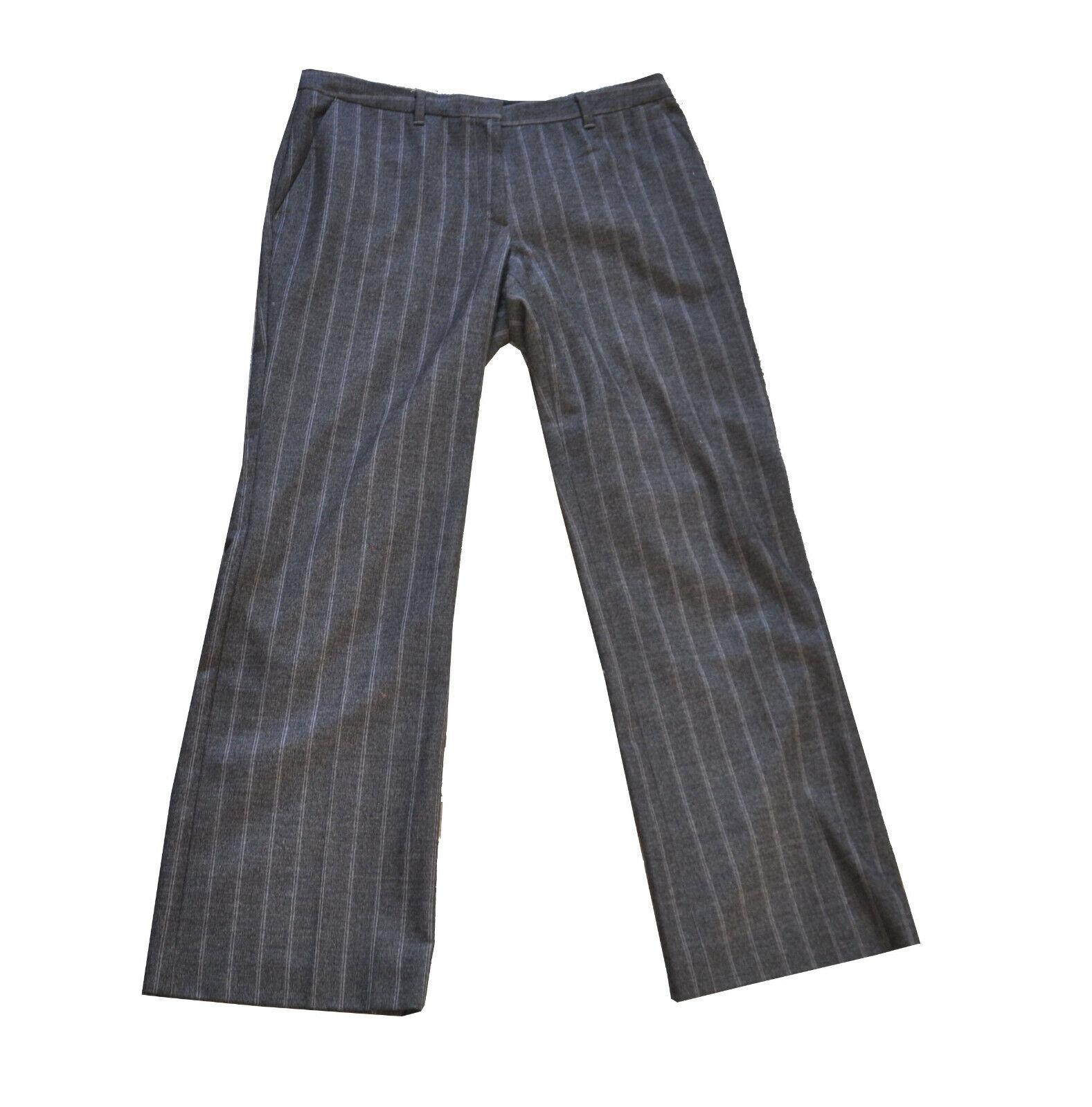 MARC CAIN  Grey Pin Stripe Trouser  N5  Pure Wool