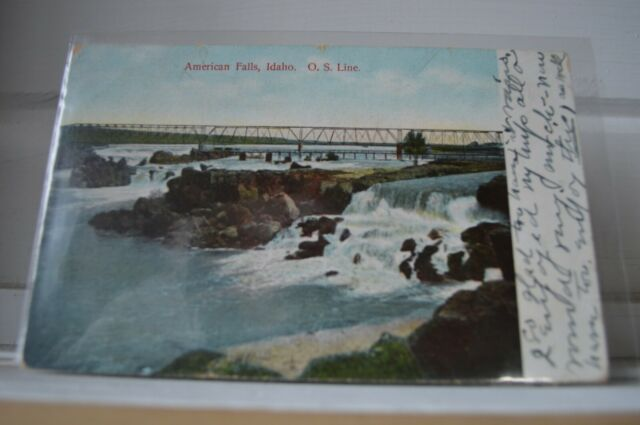 C 1910 American Falls Idaho O. S. Line Postcard