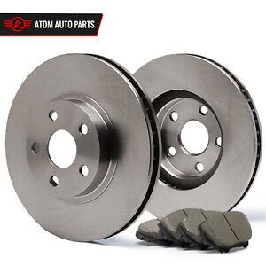 2012 2013 Fit Dodge Grand Caravan Front /& Rear Ceramic Brake Pads w//302mm Dia