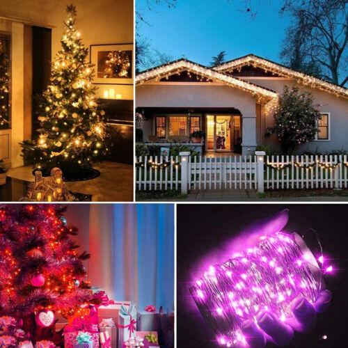 ✅20M RGB LED Lichterkette Weihnachtsbaum Dekor Innen Außen USB App Fernbedienung