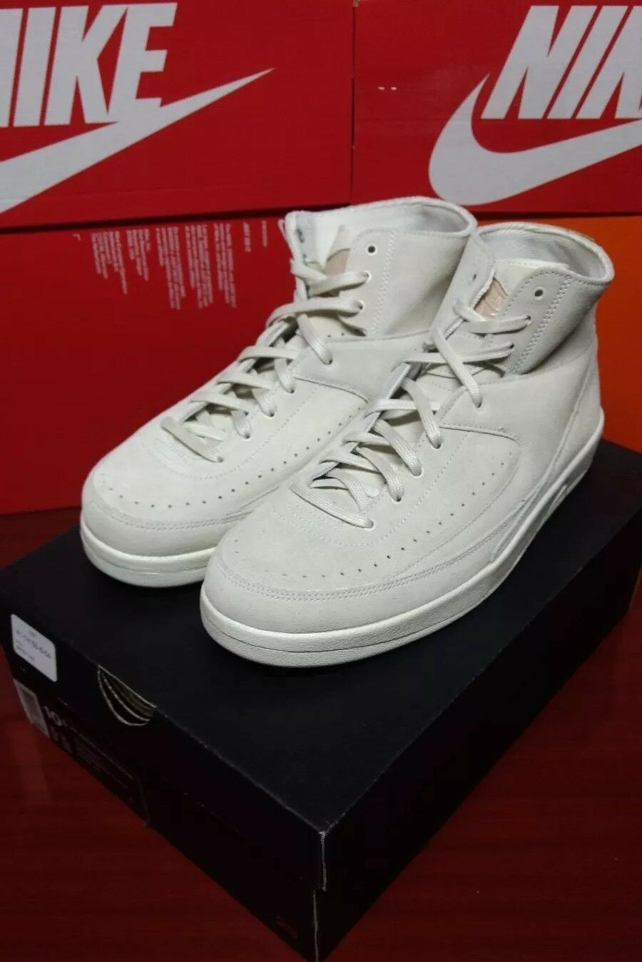 AIR JORDAN 2 RETRO DECON  Men's 10.5 897521-100 BASKETBALL SHOES Beige/Sail