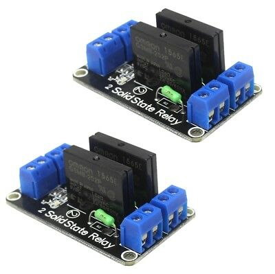 2 x Dual Channel 5V OMRON SSR G3MB-202P Solid State Relay Module For Arduino