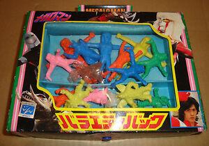 Ensemble de figurines en caoutchouc Megaloman Mini de Mark Fine Anni 70