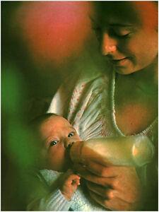 Document vintage issu de magazine année 70/80 bébé la pause biberon