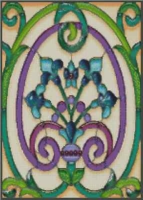 Handmade Stained Glass Cinderella DIGITAL Counted Cross-Stitch Pattern Chart