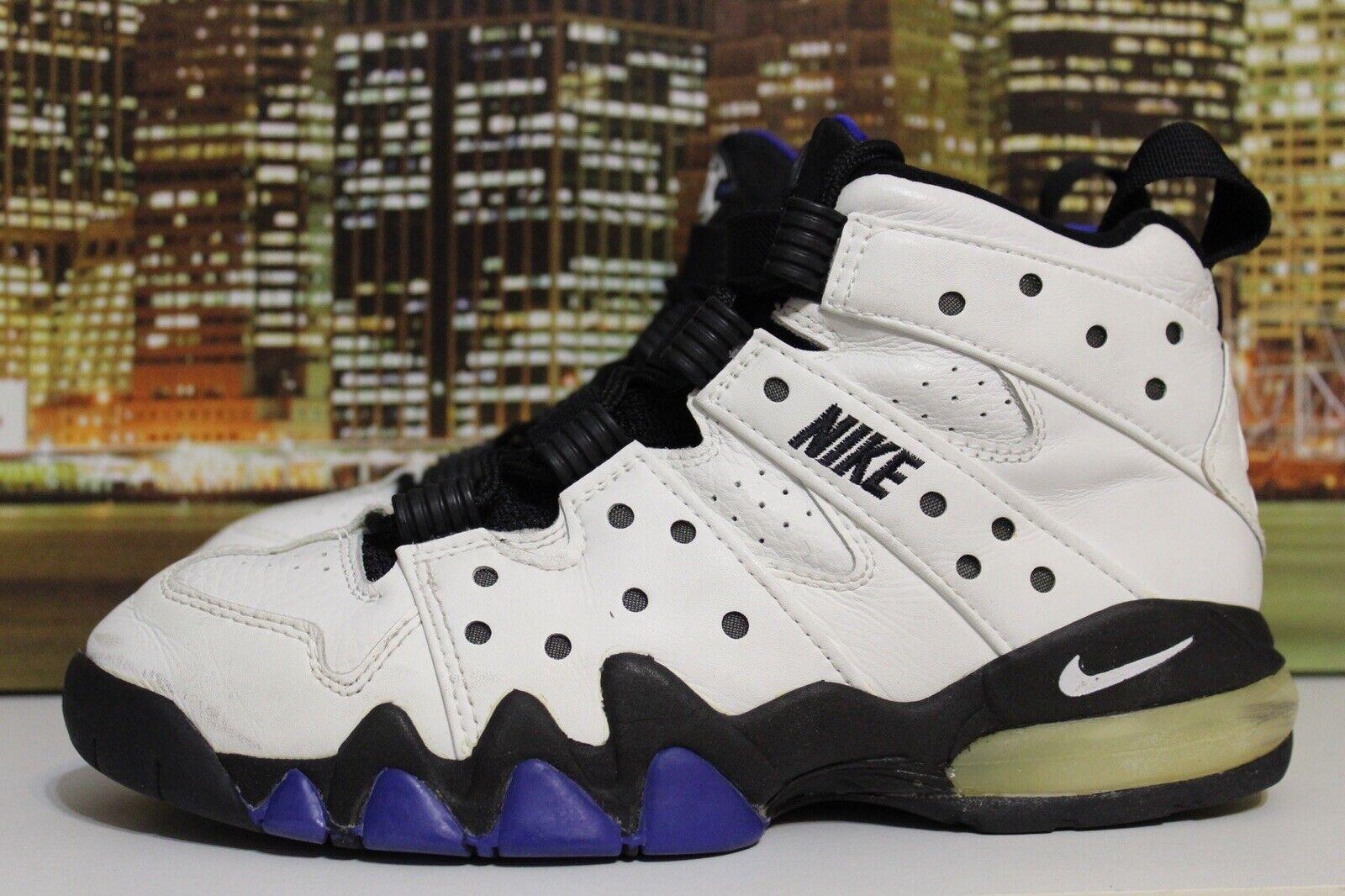VTG 90s Nike Air Max 2 Barkley White Ultramarine 1994 Basketball Sneakers Sz 10