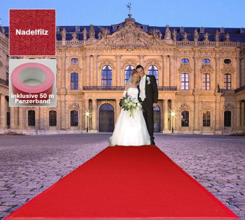 Event Hochzeits Roter Teppich B1  VIP 130x1300 rot Läufer