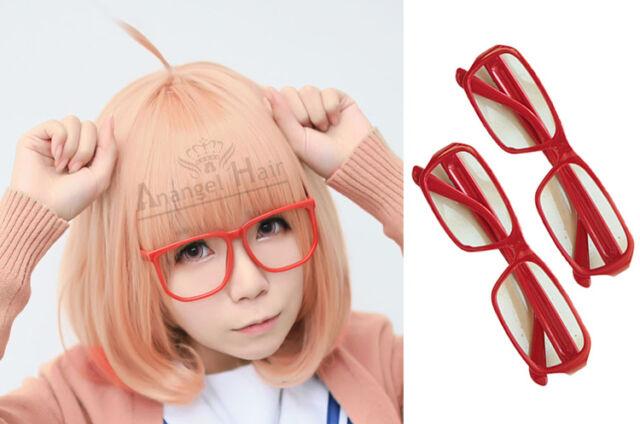 Kyoukai no Kanata Heroine Kuriyama Mirai Cosplay Wig Short Orange Synthetic Hair