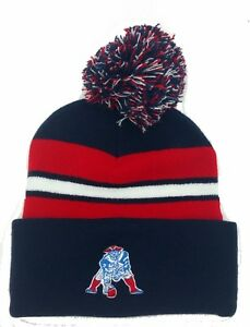 da04ad85 Details about New England Patriots Retro Logo Pom Pom Beanie Hat skull cap  one size fit most