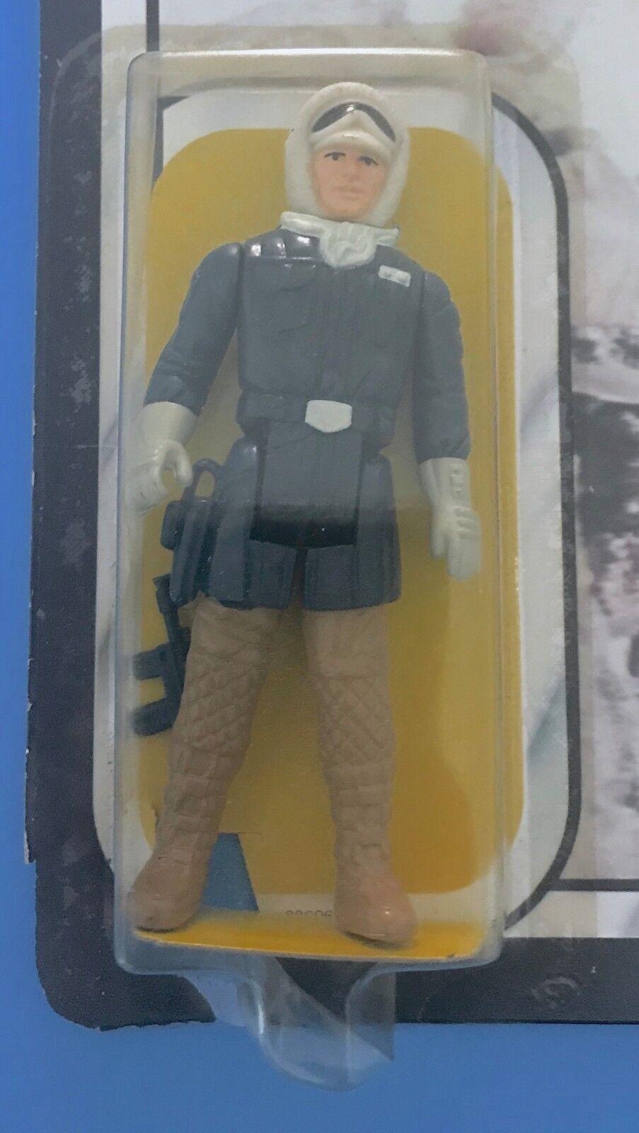 STAR WARS KENNER 1982 HAN SOLO HOTH DARK Marronee LEGS CUT CARD