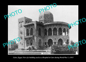 OLD-POSTCARD-SIZE-PHOTO-CAIRO-EGYPT-THE-WWI-HOSPITAL-BUILDING-c1915