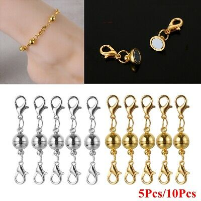 10pcs Crystal Magnetic Double Ended Lobster Clasps Necklace Bracelet Hook