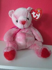TY Beanie Baby Pink Heart ROMANCE Beanie Babies Collection - Feb 2001 VALENTINES