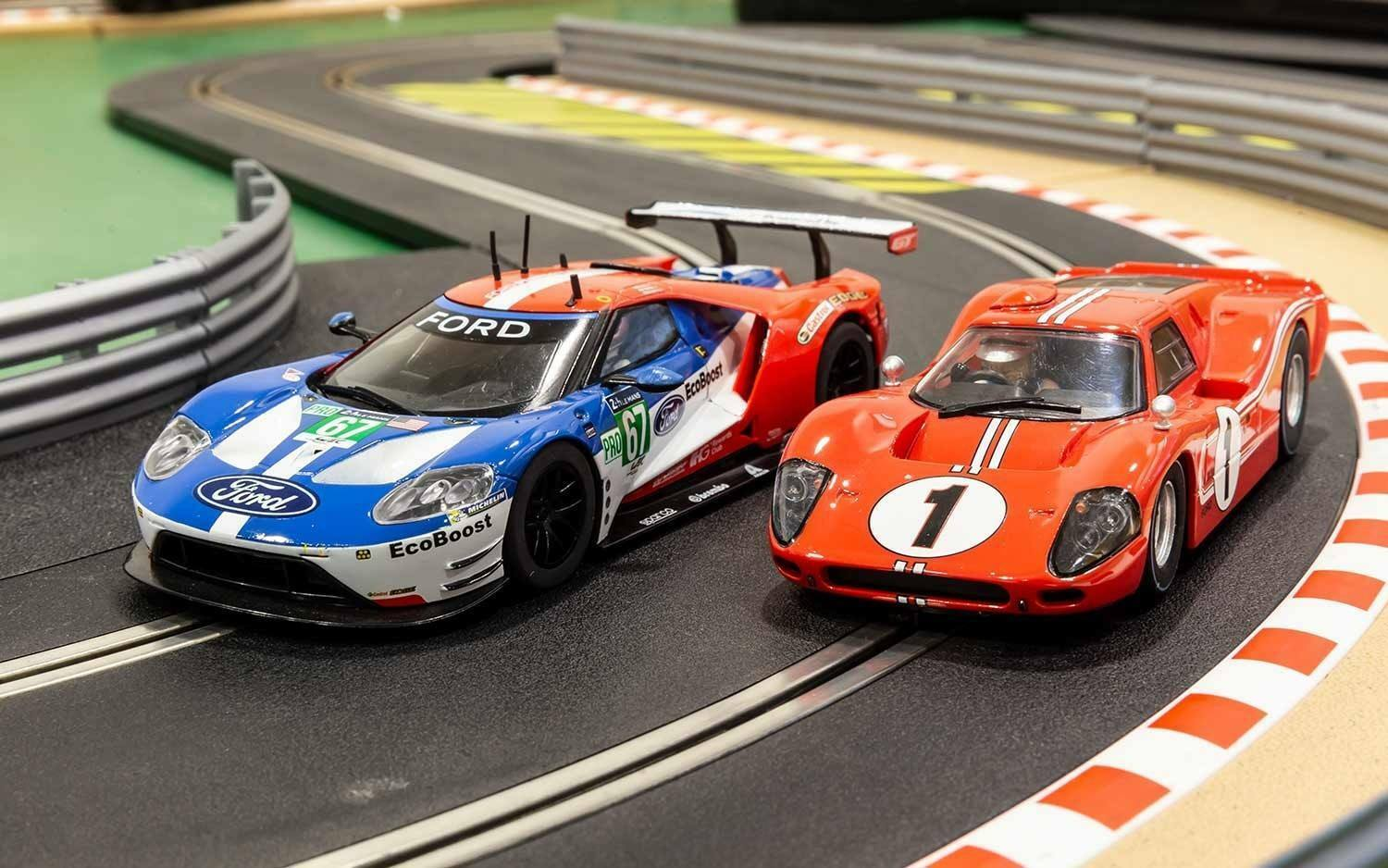 SCALEXTRIC C3893A 50 Years of Ford at Le Mans 2 car set Ltd Edition of 2000 NEW