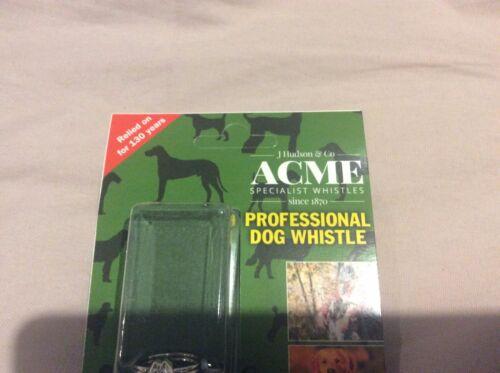 CHROME PLATED PROFESSIONAL GENUINE ACME THUNDERER REFEREE DOG WHISTLE NICKEL
