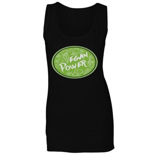 Vegan Power eat vegetables green Ladies T-shirt//Tank Top hh263f