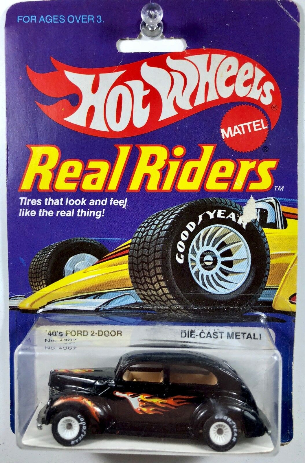 Hot Wheels 40 Ford 2-Door, Real Riders - White Hubs - RARE