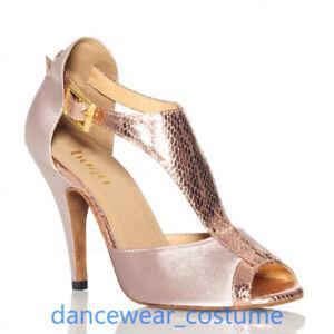 Damen Tanzschuhe Ballsaal Latein Tango Salsa Tanzen Absätze Sandaletten Schuhe