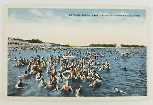 Postcard-Bathing-Beach-Bathers-Lake-Calhoun-Minneapolis-Minnesota