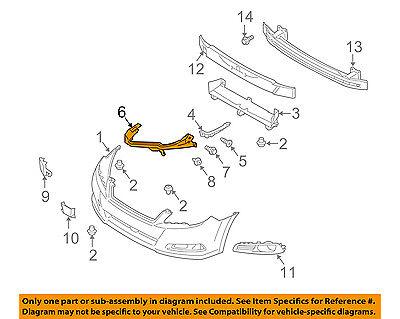 SUBARU OEM 08-09 Legacy Front Bumper-Side Bracket Left 57707AG14A