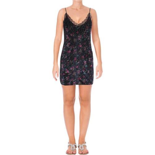 Aqua capsule Femme Velours Floral Parti Slip Dress BHFO 2478