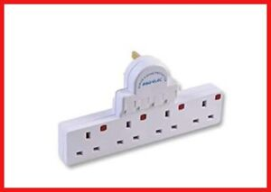 4-Gang-Way-Plug-Switched-Spike-Surge-Protect-Adaptor-Multi-Plug-Extension-Socket