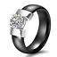 Indexbild 8 - KERAMIK Ring STRASS silber gold Fingerring weiß schwarz LUXUS +++ AUSWAHL
