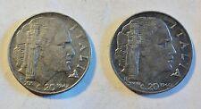 2 x Italia/Italia/ITALY - 20 CENTESIMI 1940/1942-V. Emanuele III (1922