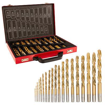 170 tlg HSS Metallbohrer Nitrid Spiralbohrer Holzbohrer 1-10mm Bohrer set